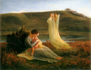 Anne-Francois-Louis Janmot reproductions - Le Poème de l'âme - L'Ange et la mère (The Poem of the Soul - The Angel and the Mother)