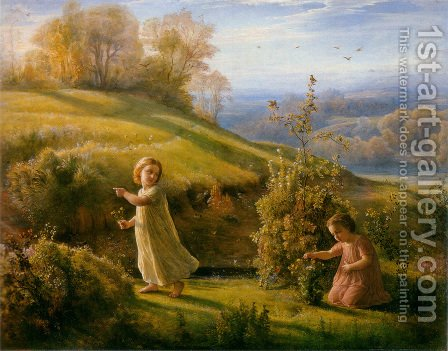 Le Poème de l'âme - Le Printemps (The Poem of the Soul - Spring) by Anne-Francois-Louis Janmot - Reproduction Oil Painting
