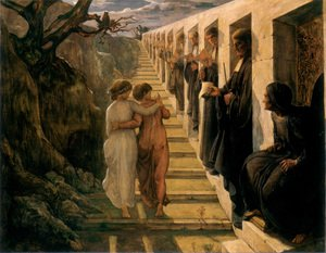 Reproduction oil paintings - Anne-Francois-Louis Janmot - Le Poème de l'âme - Le Mauvais sentier (The Poem of the Soul - The Wrong Path)