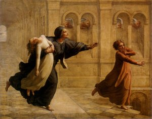 Anne-Francois-Louis Janmot reproductions - Le Poème de l'âme - Cauchemar (The Poem of the Soul - Nightmare)