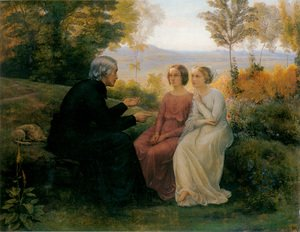 Reproduction oil paintings - Anne-Francois-Louis Janmot - Le Poème de l'âme - Le Grain de blé (The Poem of the Soul - The Grain of Wheat)