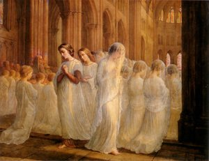 Reproduction oil paintings - Anne-Francois-Louis Janmot - Le Poème de l'âme - Première communion (The Poem of the Soul - First Communion)