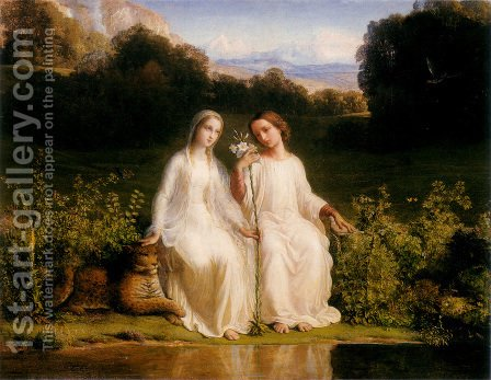 Anne-Francois-Louis Janmot: Le Poème de l'âme - Virginitas (The Poem of the Soul - Virginitas) - reproduction oil painting