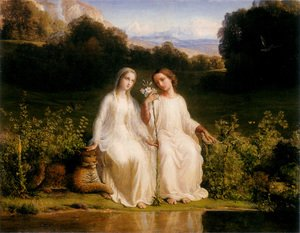 Reproduction oil paintings - Anne-Francois-Louis Janmot - Le Poème de l'âme - Virginitas (The Poem of the Soul - Virginitas)
