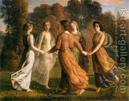 Anne-Francois-Louis Janmot: Le Poème de l'âme - Rayons du soleil (The Poem of the Soul - Rays of the Sun) - reproduction oil painting