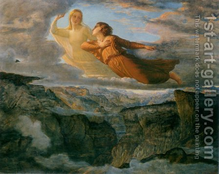 Le Poème de l'âme - L'Idéal (The Poem of the Soul - The Ideal) by Anne-Francois-Louis Janmot - Reproduction Oil Painting