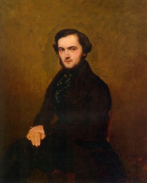 Reproduction oil paintings - Jean-Baptiste-Camille Corot - Portrait of a Gentleman