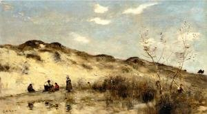 Reproduction oil paintings - Jean-Baptiste-Camille Corot - A Dune at Dunkirk