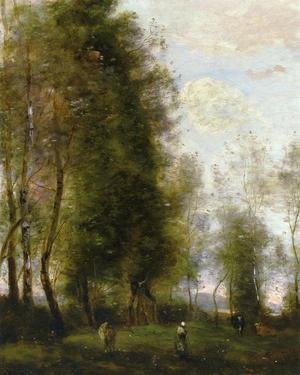 Reproduction oil paintings - Jean-Baptiste-Camille Corot - A Shady Resting Place (or Le Dormoir)