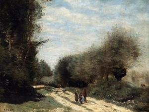 Reproduction oil paintings - Jean-Baptiste-Camille Corot - Crecy-en-Brie - Road in the Country