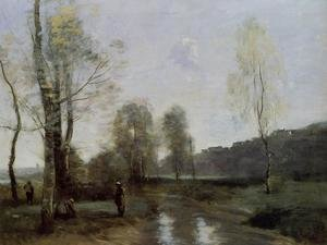 Reproduction oil paintings - Jean-Baptiste-Camille Corot - Canal in Picardi