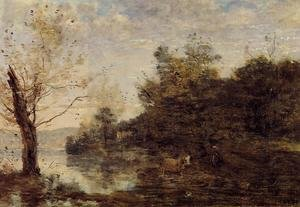 Reproduction oil paintings - Jean-Baptiste-Camille Corot - Cowherd by the Water