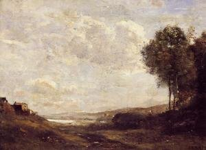 Reproduction oil paintings - Jean-Baptiste-Camille Corot - Landscape by the Lake