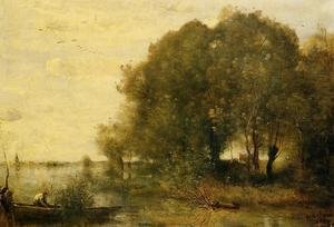Reproduction oil paintings - Jean-Baptiste-Camille Corot - Wooded Peninsula