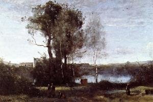 Reproduction oil paintings - Jean-Baptiste-Camille Corot - Large Sharecropping Farm