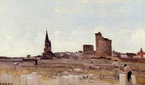 Reproduction oil paintings - Jean-Baptiste-Camille Corot - La Rochelle - Quarry near the Port Entrance