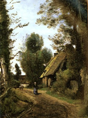 Reproduction oil paintings - Jean-Baptiste-Camille Corot - Saint-Quentin-Des-Pres(Oise), Pres Gournay-En-Bray