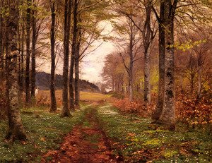 Famous paintings of Trees: A Woodland Landscape