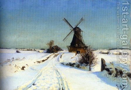 Vindmoue (A Windmill) by Hans Anderson Brendekilde - Reproduction Oil Painting