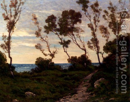 Path To The Sea by Henri-Joseph Harpignies - Reproduction Oil Painting