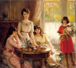 Reproduction oil paintings - Albert Lynch - L'heure Du The