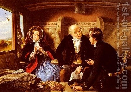 First Class - The Return by Abraham Solomon - Reproduction Oil Painting