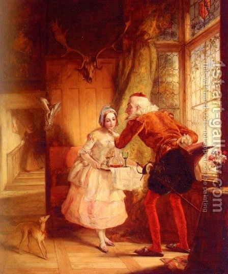 'The Sixth Age Shifts Into Lean And Slippered Pantaloon With Spectacles On Nose And Pouch On Side His Youthful Hose Well Saved, A World Too Wide For His Shrunk; And His Manly Voice Turning Again Towards Childish Treble, Pipes And Whistles In His Sound' by Abraham Solomon - Reproduction Oil Painting