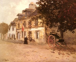 Famous paintings of Villages: A Village Street In France