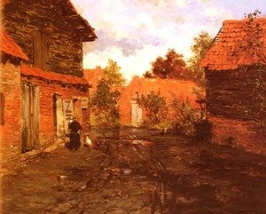 Famous paintings of Villages: After The Rain