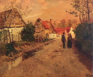 Famous paintings of Villages: Arques-La-Bataille, Normandie