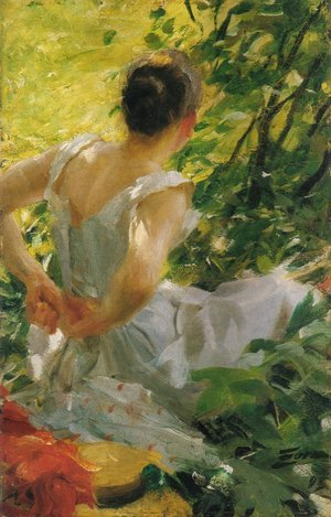 Anders Zorn reproductions - Kvinna som klär sig (Woman dressing)