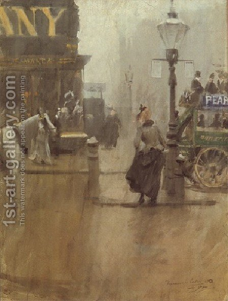 Impressions de Londres (Impressions of London) by Anders Zorn - Reproduction Oil Painting