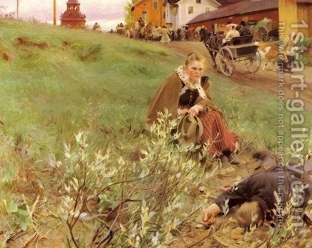 Mora Marknad (The Mora Fair) by Anders Zorn - Reproduction Oil Painting