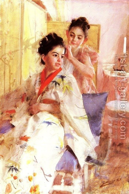 Froknarna Salomon (The misses Salomon) by Anders Zorn - Reproduction Oil Painting