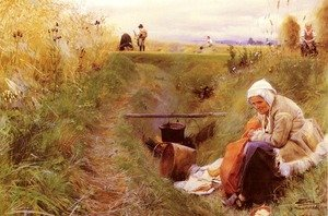 Reproduction oil paintings - Anders Zorn - Vart Dagliga Brod (Our daily bread)
