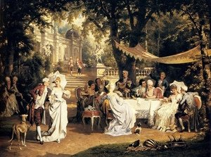 Famous paintings of Trees: The Garden Party