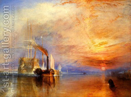 The Fighting 'Téméraire' tugged to her last Berth to be broken up by Turner - Reproduction Oil Painting