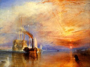 Reproduction oil paintings - Turner - The Fighting 'Téméraire' tugged to her last Berth to be broken up