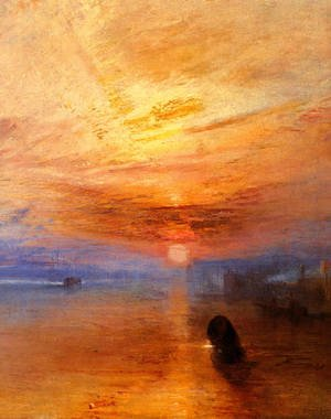 Reproduction oil paintings - Turner - The Fighting 'Téméraire' tugged to her last Berth to be broken up [detail: 1]