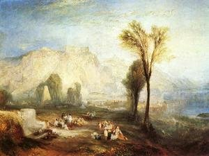 Reproduction oil paintings - Turner - The Bright Stone of Honor (Ehrenbrietstein) and the Tomb of Marceau, from Byron's 'Childe Harold'