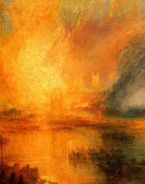 Reproduction oil paintings - Turner - The Burning of the Houses of Parliament [detail: 1]