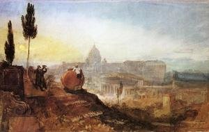 Reproduction oil paintings - Turner - Rome: St. Peter's from the Villa Barberini