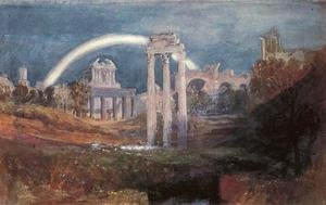 Reproduction oil paintings - Turner - Rome: The Forum with a Rainbow