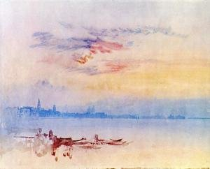 Reproduction oil paintings - Turner - Venice, Looking East from the Guidecca: Sunrise