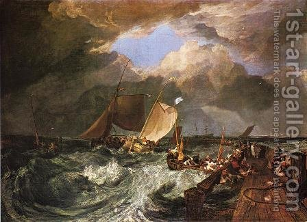 Turner: Calais Pier, with French Poissards Preparing for Sea: an English Packeet Arriving - reproduction oil painting