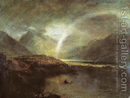 Buttermere Lake: A Shower by Turner - Reproduction Oil Painting