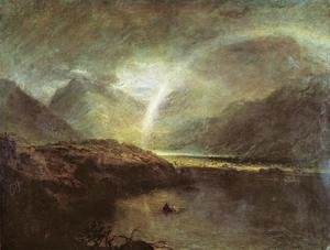 Romanticism painting reproductions: Buttermere Lake: A Shower