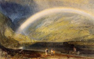 Reproduction oil paintings - Turner - Rainbow (or A View on the Rhine from Dunkholder Vineyard, of Osterspey and Feltzen below Bosnart)