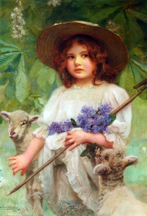 Famous paintings of Portraits: Little Bo Peep