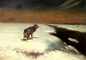 Reproduction oil paintings - Alfred Wierusz-Kowalski - The Wolf